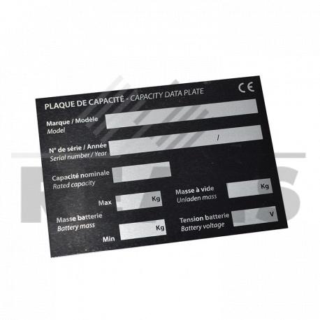 plaque de capacite adhesive