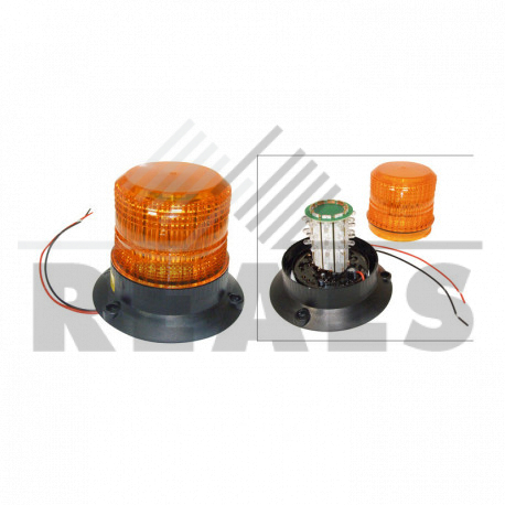 Feu à éclats à leds 9/100v h.118 mm Entraxe : 112 mm